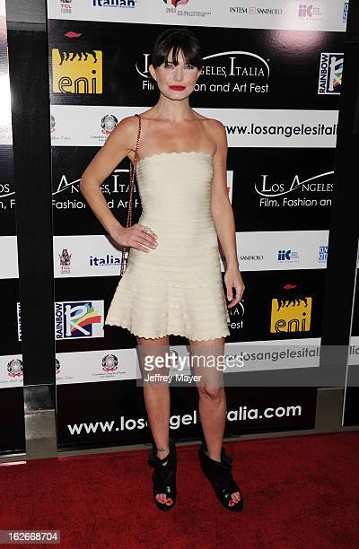 Delphine Chaneac attends the 8th Annual Los Angeles Italia Film Fashion and Art Festival Opening Night Gala at the Mann Chinese 6 on February 17 2013...