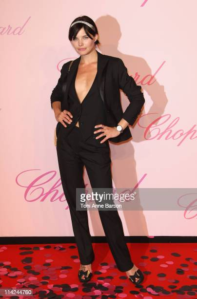 """Delphine Chaneac attends the Chopard """"Happy Diamonds Are A Girl's Best Friend"""" Party during the 64th Annual Cannes Film Festival at the Martinez..."""