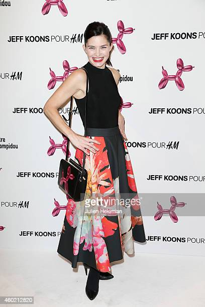 Delphine Chaneac attends the Jeff Koons For HM Handbag Presentation a Cocktail Event at Centre Pompidou on December 9 2014 in Paris France