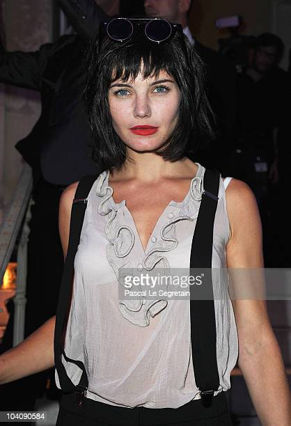 Delphine Chaneac attends the Karl Lagerfeld Exhibition launch at Maison Europeenne de la Photographie on September 14 2010 in Paris France