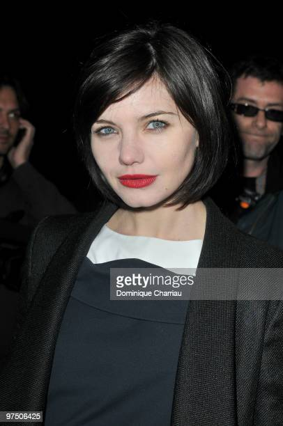Delphine Chaneac attends the Karl Lagerfeld Ready to Wear show as part of the Paris Womenswear Fashion Week Fall/Winter 2011 at Espace Ephemere...