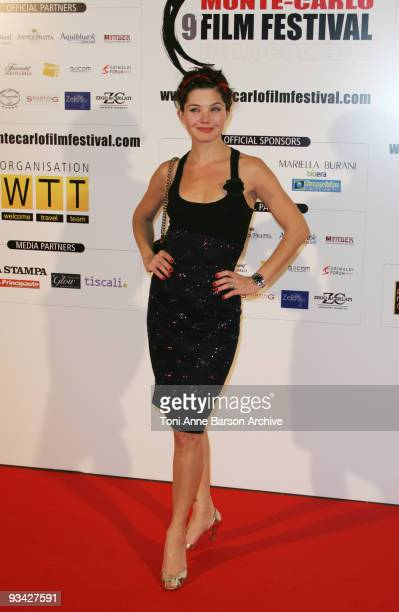 Delphine Chaneac attends the premiere of 'Le Bonheur de Pierre' at the Monte Carlo Comedy Film Festival in the Grimaldi Forum on November 25 2009 in...