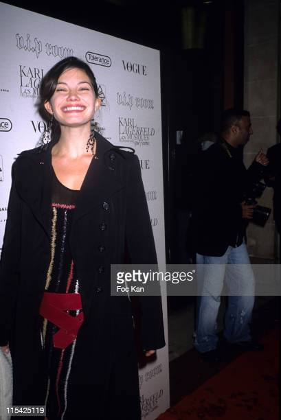 """Delphine Chaneac during Paris Fashion Week Spring/Summer 2007 - Karl Lagerfeld """"My Favourite Songs"""" CD Launch Party - at VIP Room in Paris, France."""