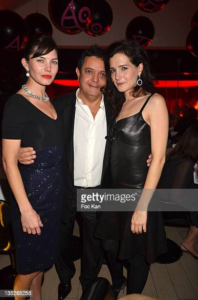 Delphine Chaneac, Edouard Nahum and Chloe Lambert attend the Jeweler Edouard Nahum Celebrates 'Sissi' New Ring Launch - Dinner At La Gioia on...