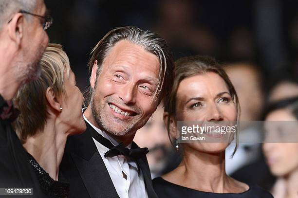 Delphine Chuillot Mads Mikkelsen and Hanne Jacobsen attend the 'Michael Kohlhaas' premiere during The 66th Annual Cannes Film Festival at the Palais...