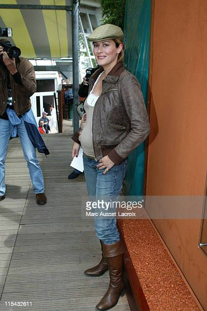 Delphine de Turckheim arrives in the 'Village' the VIP area of the French Open at Roland Garros arena in Paris France on May 31 2007