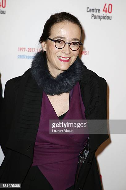 Delphine Ernotte attends Centre Georges Pompidou 40th Anniversary at Centre Pompidou on January 10 2017 in Paris France