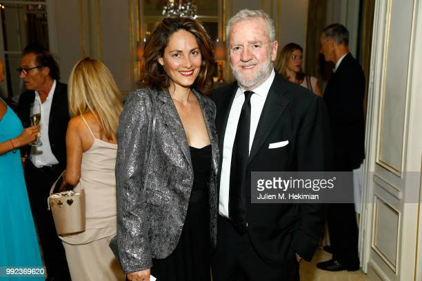 Delphine Malachard de Reyssiers and Fabio Conversi attend the Liu Lisi Charity Gala Dinner with Unicef at Hotel Plaza Athenee on July 5 2018 in Paris...