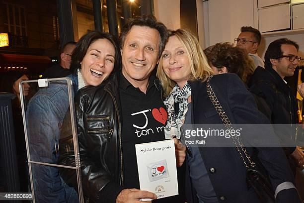 Delphine Malachard de Turckheim Michel La Rosa and Valerie Steffen attend the 'J'aime Ton Mari' Sylvie Bourgeois Harel Book Reading Cocktail at La...