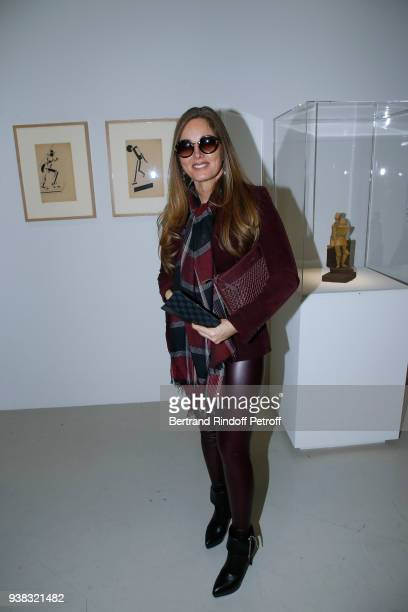 Delphine Marang Alexandre attends the Chagall Lissitzky Malevitch L'Avantgarde Russe a Vitebsk 19181922 Press Preview at Centre Pompidou on March 26...