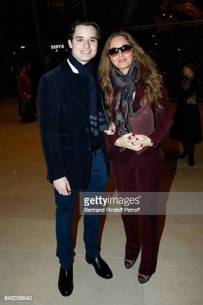 Delphine MarangAlexandre and her son Victor Alexandre attend the Private View of Icones de l'Art Moderne la Collection Chtchoukine at Fondation Louis...