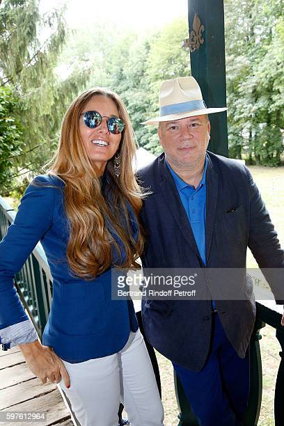 Delphine MarangAlexandre and Marc Lambron attend 21th 'la Foret des Livres' Book Fair at ChanceauxpresLoches on August 28 2016 in Loches France