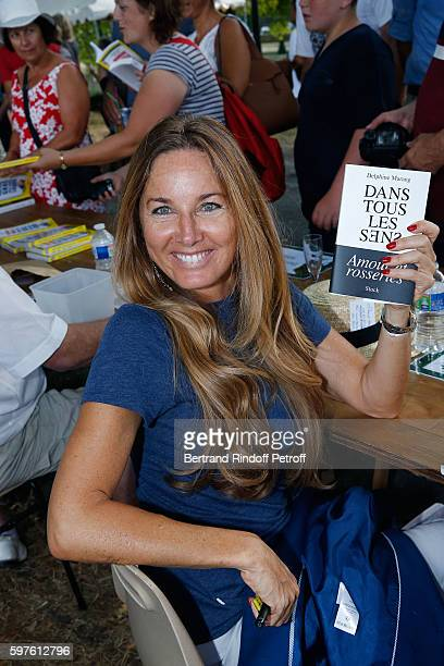 Delphine MarangAlexandre attends '21th 'la Foret des Livres' Book Fair at ChanceauxpresLoches on August 28 2016 in Loches France