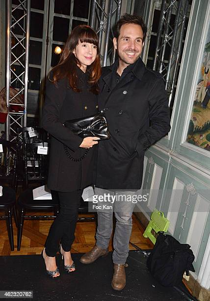 Delphine McCarty and Christophe Michalak attend The Alexis Mabille show as part of Paris Fashion Week HauteCouture Spring/Summer 2015 on January 26...