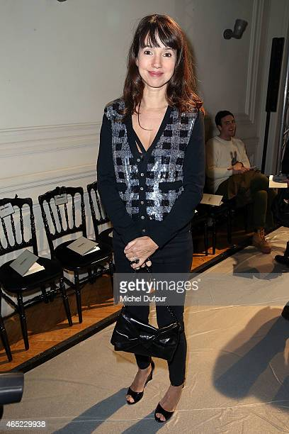 Delphine McCarty attends the Alexis Mabille show as part of the Paris Fashion Week Womenswear Fall/Winter 2015/2016 on March 4 2015 in Paris France