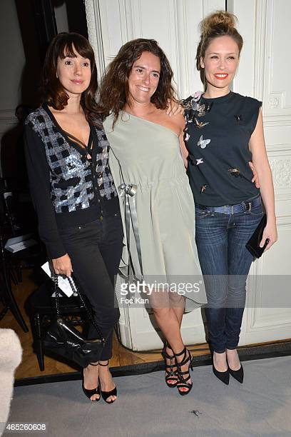 Delphine McCarty IndiaMahdaviÊand Lilou Fogli attend the Alexis Mabille show as part of the Paris Fashion Week Womenswear Fall/Winter 2015/2016 at...