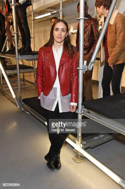 Delphine Ninous Belstaff Creative Director attends the Belstaff presentation during London Fashion Week Men's January 2018 at The Vinyl Factory...