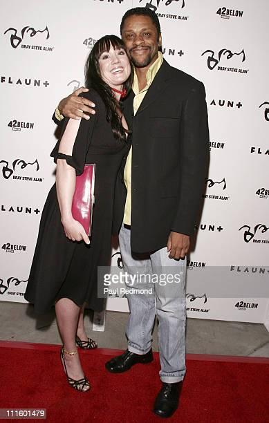 Delphine Orsat and LawrenceHilton Jacobs during Flaunt Magazine Hosts Bray Steve Alan Store Opening April 21 2006 at Bray Steve Alan Store in Los...
