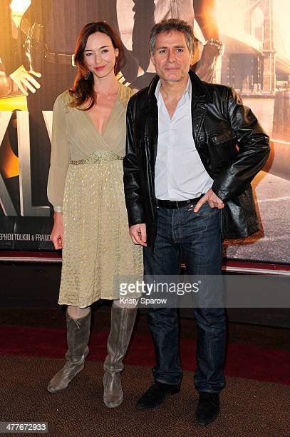 Delphine Rollin and Laurent Olmedo attend the 'Taxi Brooklyn' Paris premiere at Cinema Gaumont Marignan on March 10 2014 in Paris France