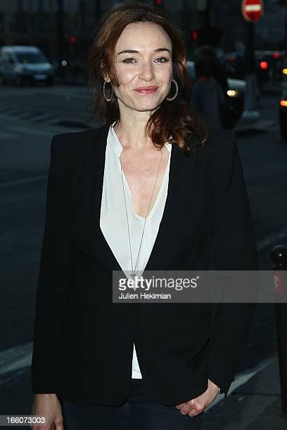Delphine Rollin attends the Blanche Nuit Ni L'Inverse Ni Le Contraire Premiere at cinema Bastille on April 8 2013 in Paris France