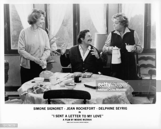 a letter to my love signoret delphine seyrig photos et images de collection getty images 27096 | delphine seyrig jean rochefort and simone signoret having laughs the picture id131292251?s=612x612