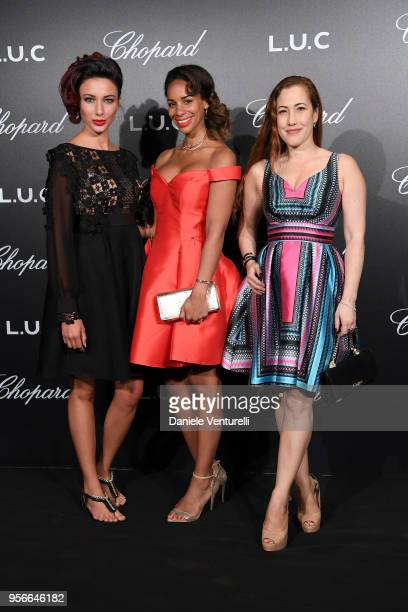Delphine Wespiser and guest attend the Chopard Gentleman's Night during the 71st annual Cannes Film Festival at Martinez Hotel on May 9 2018 in...