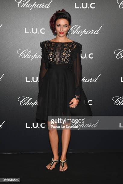 Delphine Wespiser attends the Chopard Gentleman's Evening at Hotel Martinez on May 9 2018 in Cannes France