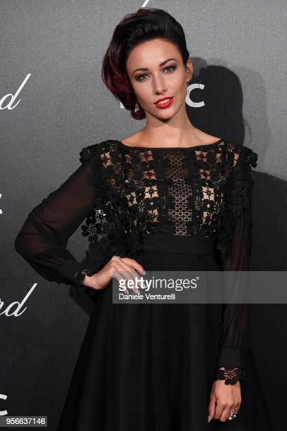 Delphine Wespiser attends the Chopard Gentleman's Night during the 71st annual Cannes Film Festival at Martinez Hotel on May 9 2018 in Cannes France