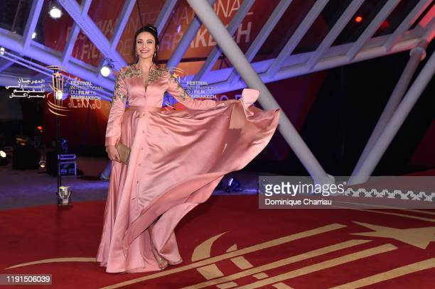 Delphine Wespiser attends the screening of the irishman during the 18th Marrakech International Film Festival Day Four on Decemeber 02 2019 in...