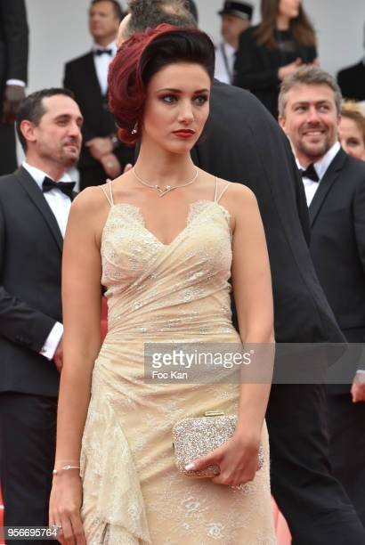 Delphine Wespiser attends the screening of 'Yomeddine' during the 71st annual Cannes Film Festival at Palais des Festivals on May 9 2018 in Cannes...