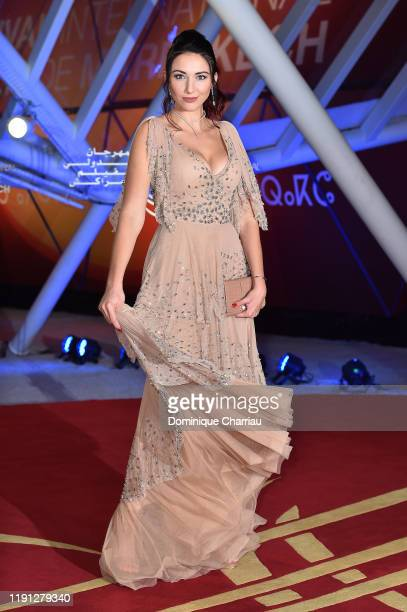 Delphine Wespiser attends the tribute to Bertrand Tavernier during the 18th Marrakech International Film Festival Day Three on December 01 2019 in...