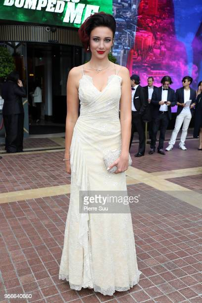 Delphine Wespiser is seen at 'Le Majestic' hotel during the 71st annual Cannes Film Festival at on May 9 2018 in Cannes France