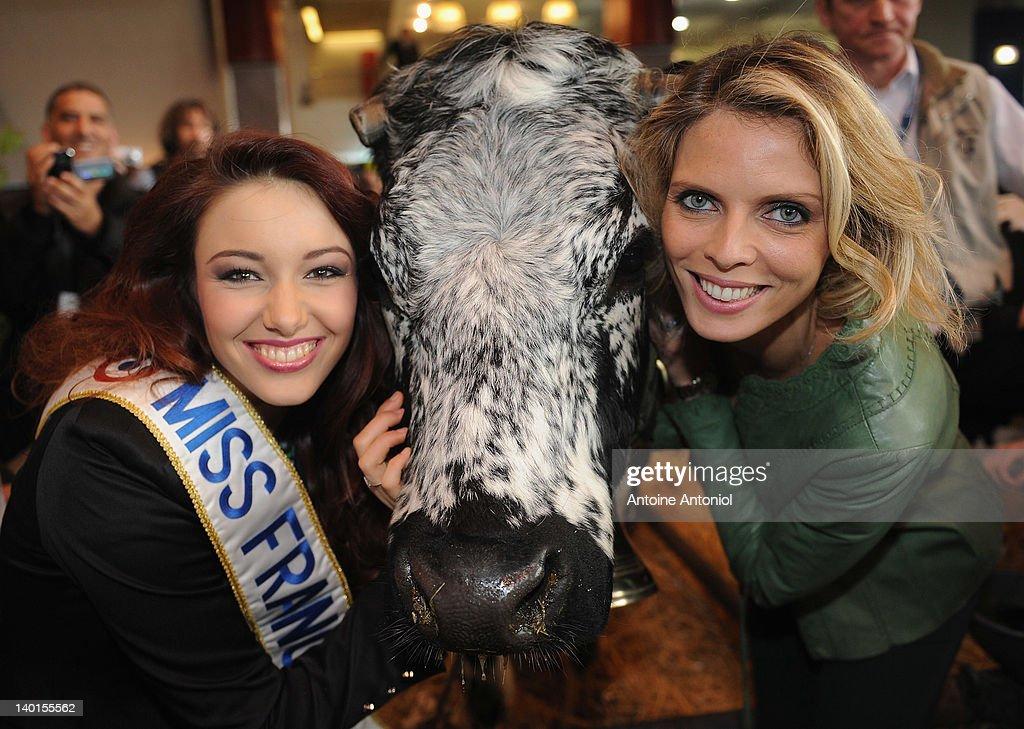 Miss France 2012 Attends Salon De L'Agriculture