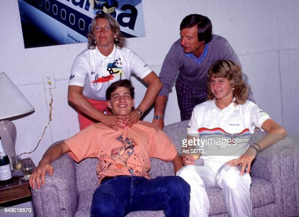 00/00/1989 Delray Beach Florida Heidi Peter Michael and Steffi Graf