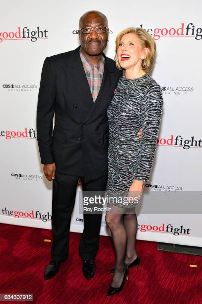 Delroy Lindo and Christine Baranski attend 'The Good Fight' World Premiere at Jazz at Lincoln Center on February 8 2017 in New York City