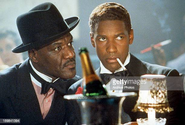 Delroy Lindo as West Indian Archie, and Denzel Washington in the title role of Spike Lee's biopic of the African-American activist, 'Malcolm X', 1992.