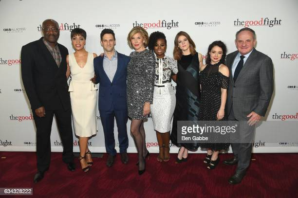 Delroy Lindo Cush Jumbo Justin Bartha Christine Baranski Erica Tazel Rose Leslie and Paul Guilfoyle attend 'The Good Fight' World Premiere at Jazz at...