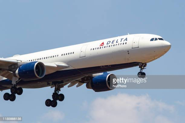 Delta Air Lines Airbus A330-300 landing at Athens International Airport AIA , LGAV / ATH Eleftherios Venizelos, with registration N806NW, a former...