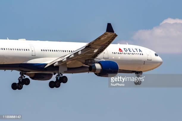 Delta Air Lines Airbus A330300 landing at Athens International Airport AIA LGAV / ATH Eleftherios Venizelos with registration N806NW a former...