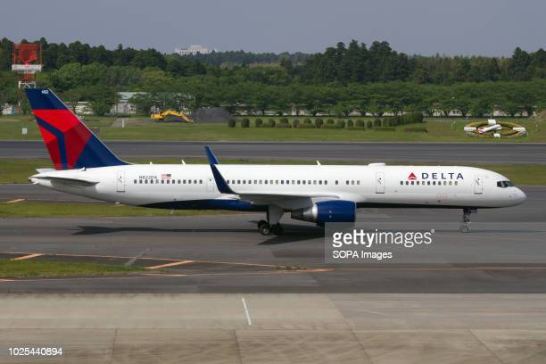 Delta Air Lines Boeing 757200 taken at Tokyo Narita airport when taxiing to depart