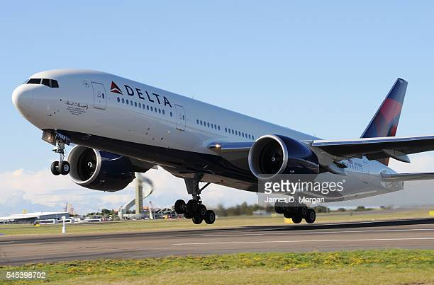 Delta Air Lines takes off on July 4, 2009 in Sydney, Australia. The worlds largest airline, Delta Air Lines, took off from Sydney's International...