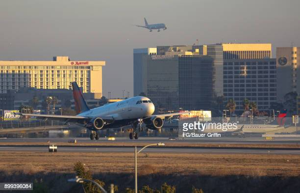 Delta Airbus A319114 at Los Angeles International Airport on December 28 2017 in Los Angeles California
