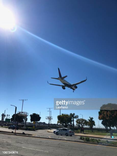 Delta Airlines landing in Los Angeles - LAX airport