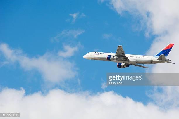 Delta Airlines Passenger Jet in Flight