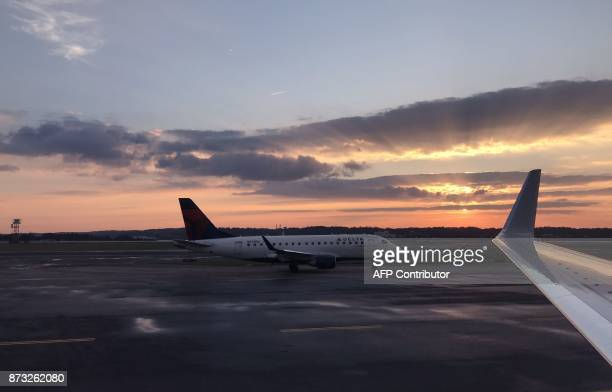 A Delta Airlines planes taxis on November 10 at Ronald Reagan Washington National Airport in Arlington Virginia 3 miles south of downtown Washington...