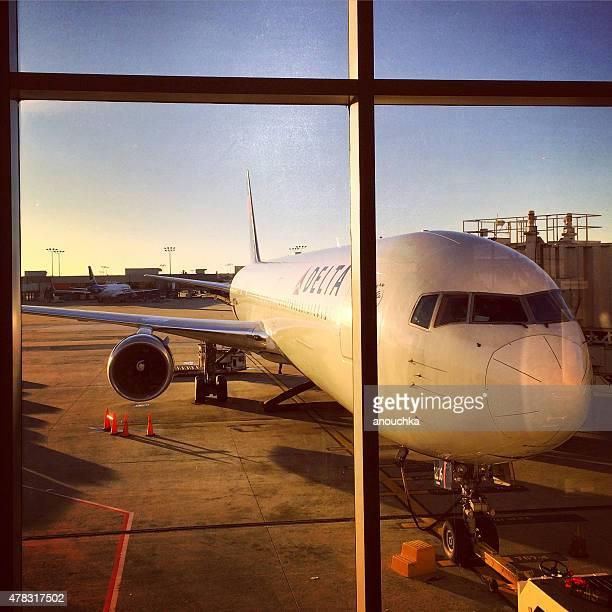 Delta Airplane at Atlanta Airport