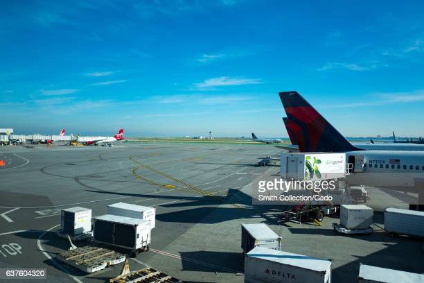 Delta and Virgin America jets on the tarmac at San Francisco International Airport San Francisco California December 20 2016