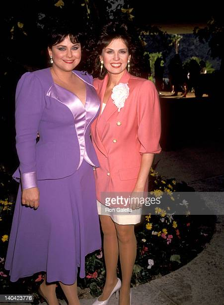 Delta Burke and Marie Osmond at the Taping of Bob Hope's TV Special 'Bob Hope's Yellow Ribbon Party' Bob Hope's Palm Springs Home Palm Springs