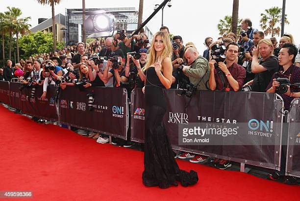 Delta Goodrem arrives at the 28th Annual ARIA Awards 2014 at the Star on November 26 2014 in Sydney Australia