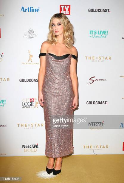 Delta Goodrem arrives at the 61st Annual TV WEEK Logie Awards at The Star Gold Coast on June 30 2019 on the Gold Coast Australia